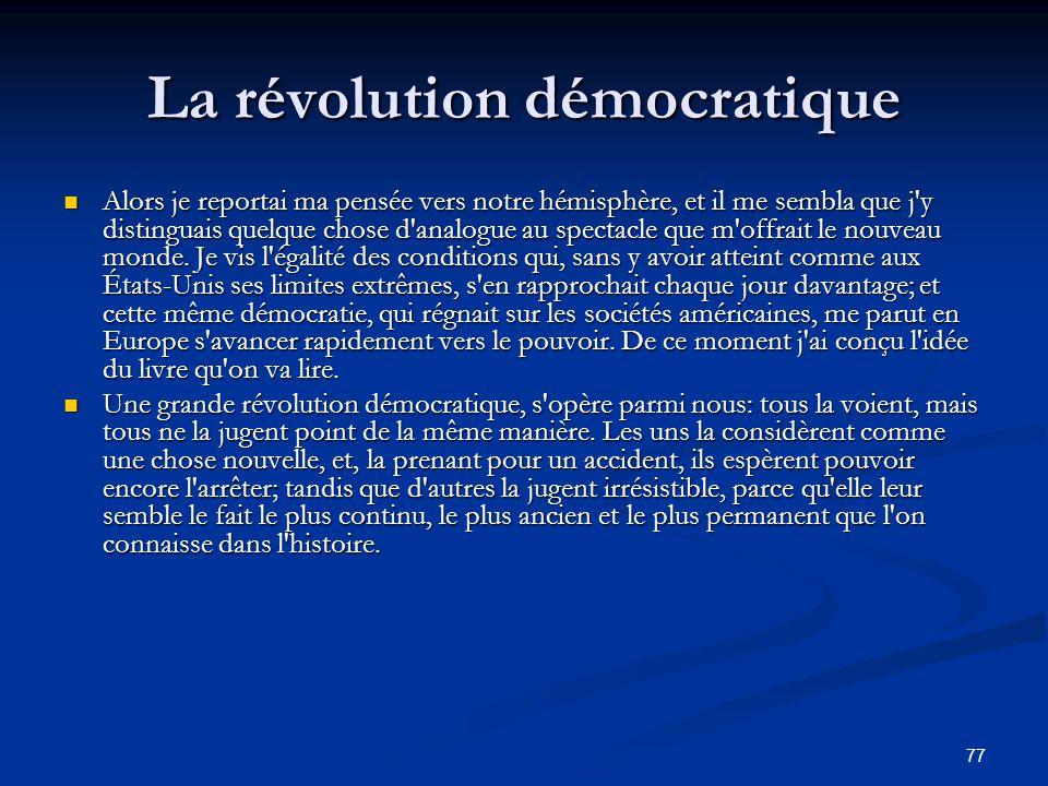 La révolution démocratique