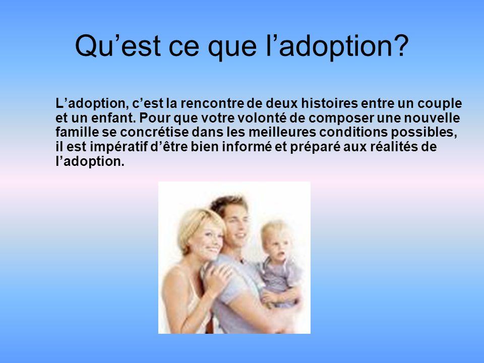 Qu'est ce que l'adoption
