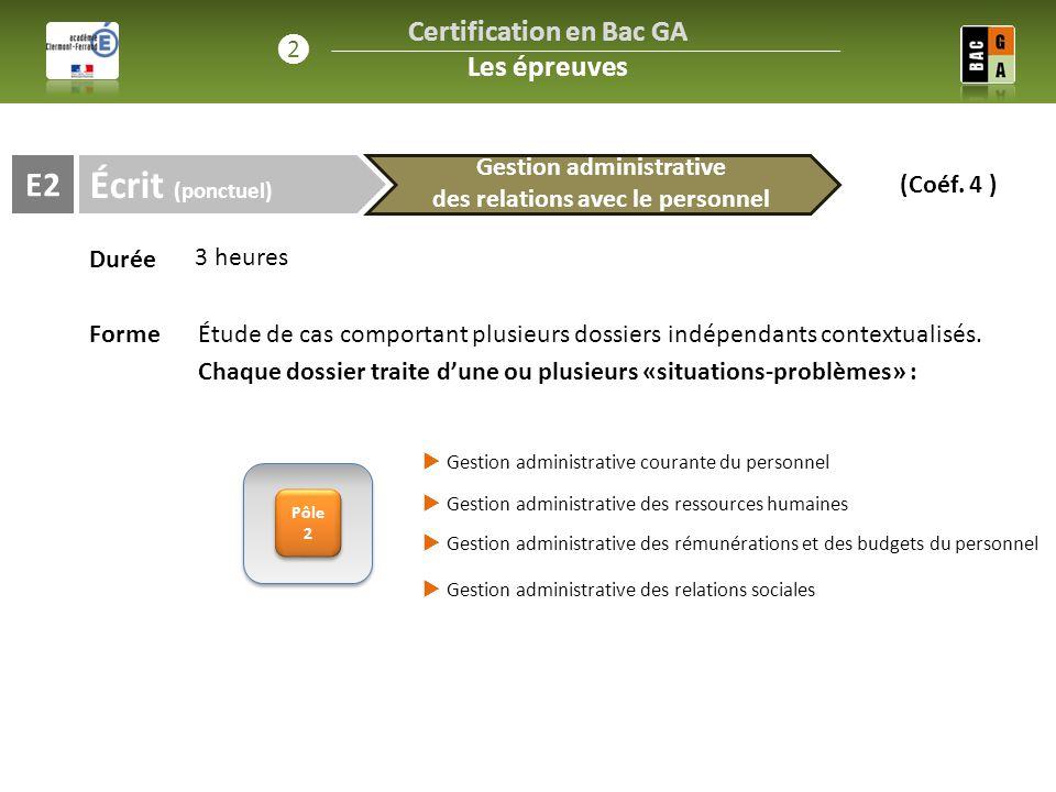 Certification en Bac GA