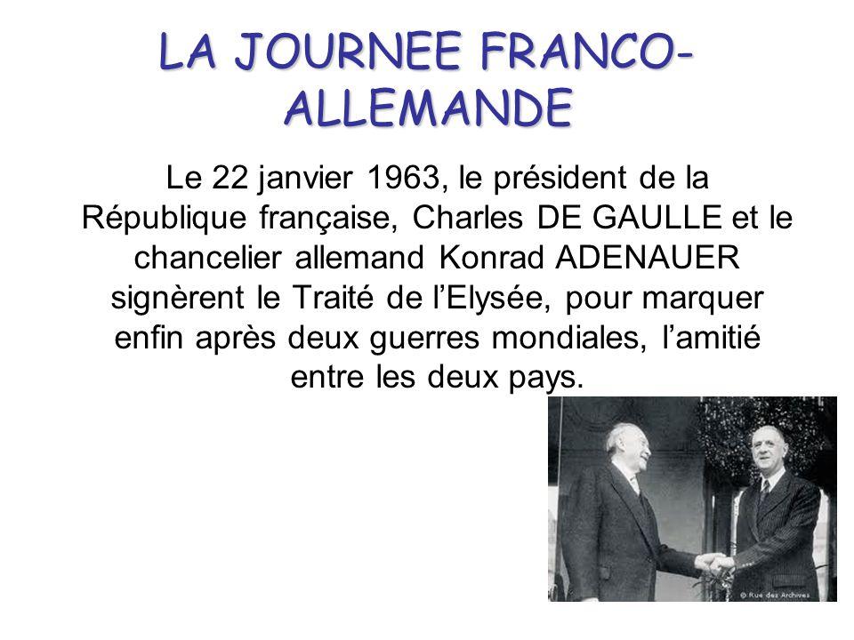 LA JOURNEE FRANCO-ALLEMANDE