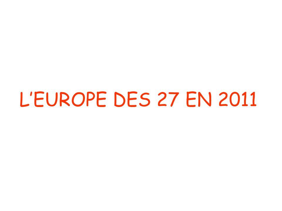 L'EUROPE DES 27 EN 2011