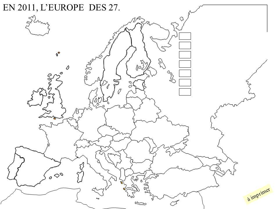 EN 2011, L'EUROPE DES 27. à imprimer