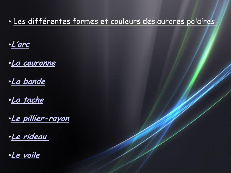 Les différentes formes et couleurs des aurores polaires:
