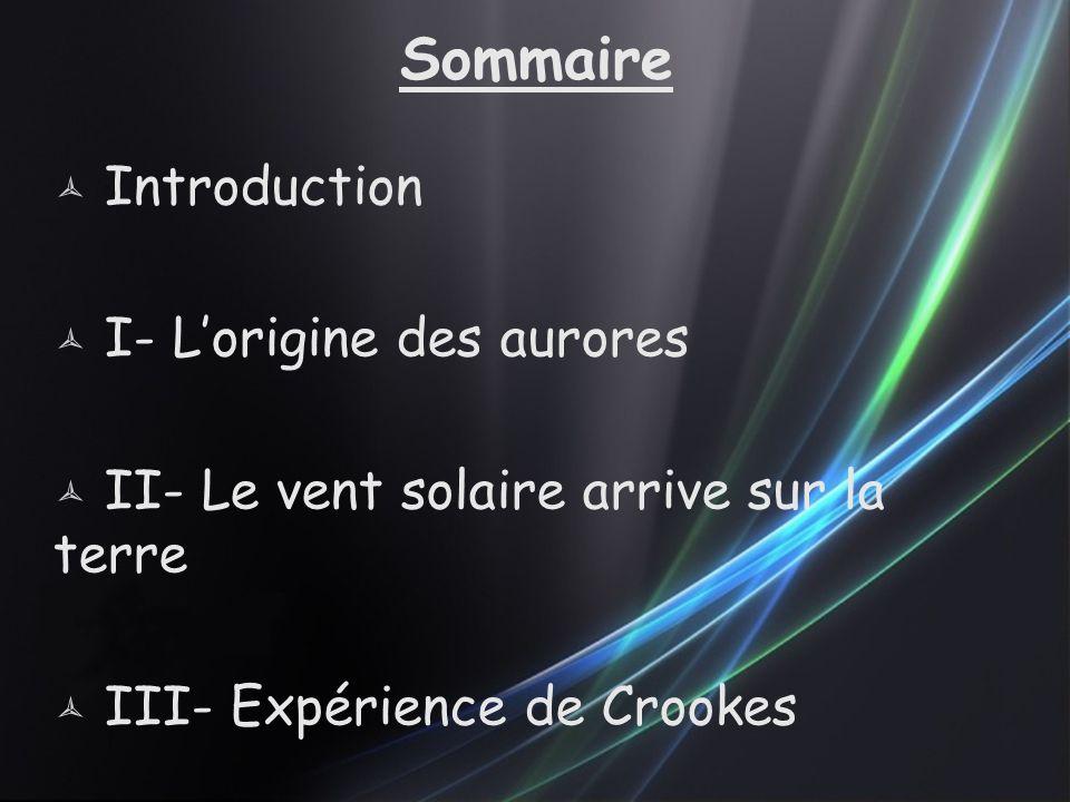 Sommaire Introduction I- L'origine des aurores