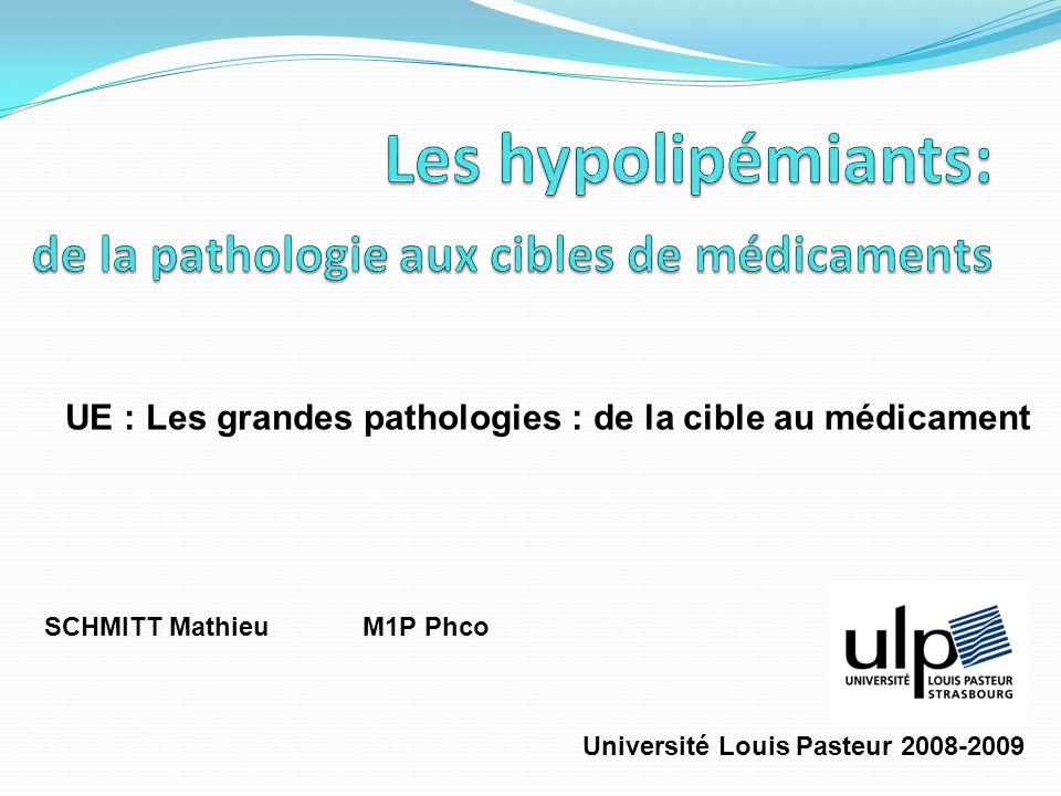 Les hypolipémiants: de la pathologie aux cibles de médicaments