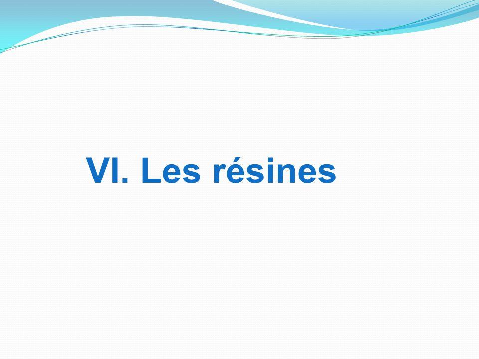 VI. Les résines
