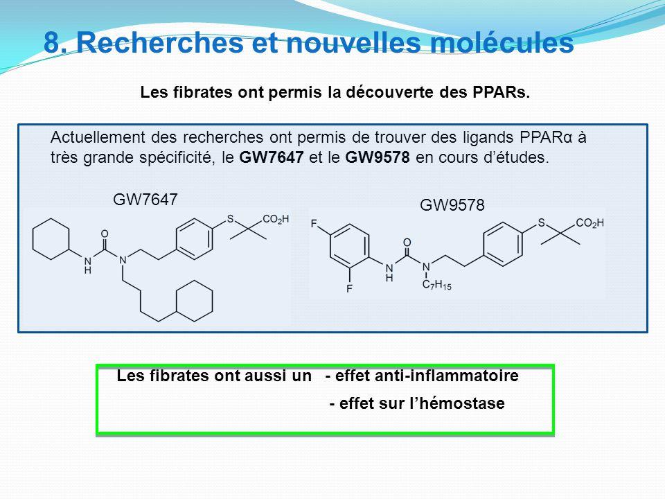 8. Recherches et nouvelles molécules