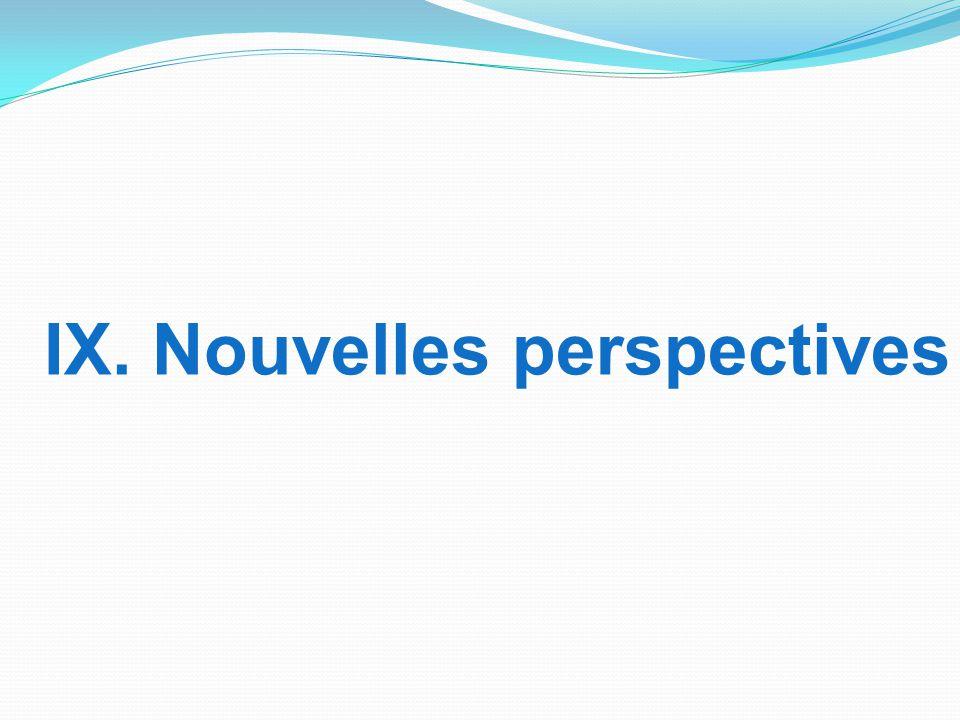 IX. Nouvelles perspectives