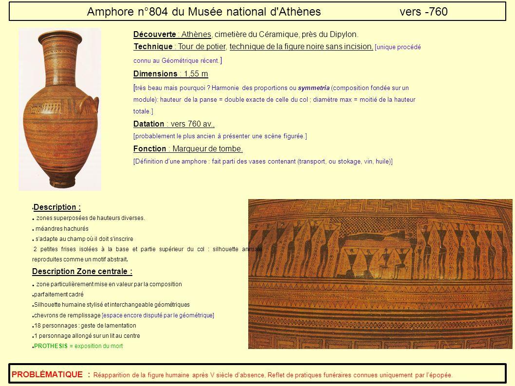 Amphore n°804 du Musée national d Athènes vers -760