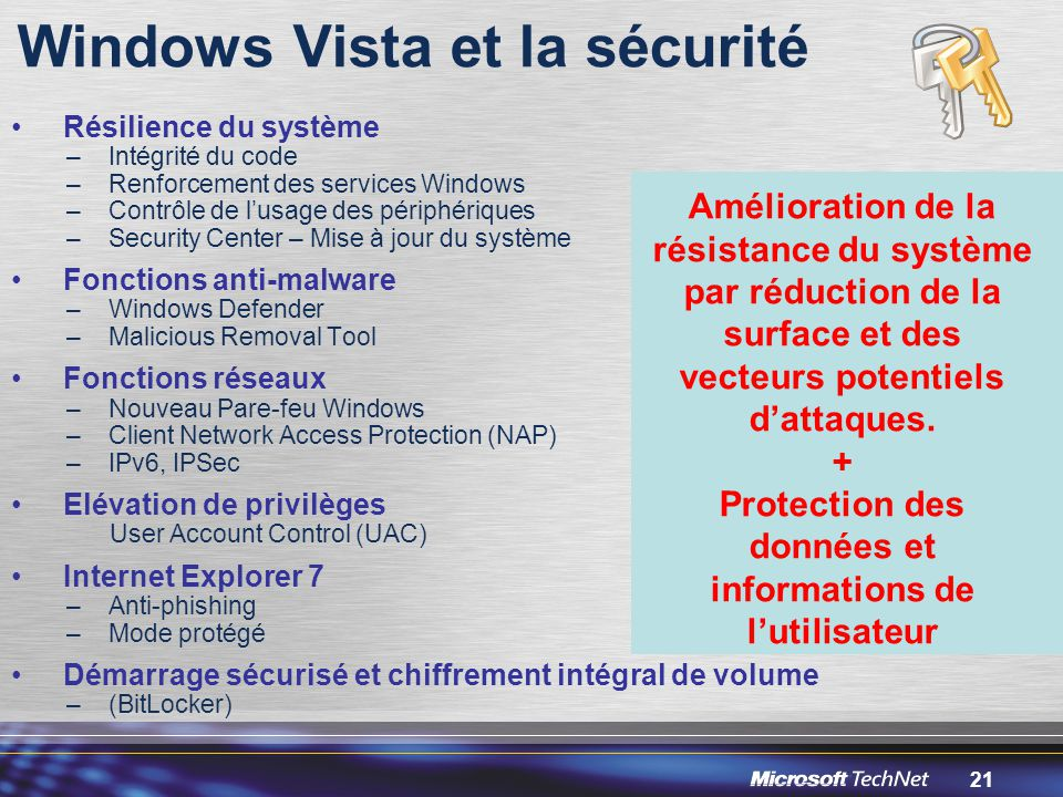 Windows Vista et la sécurité