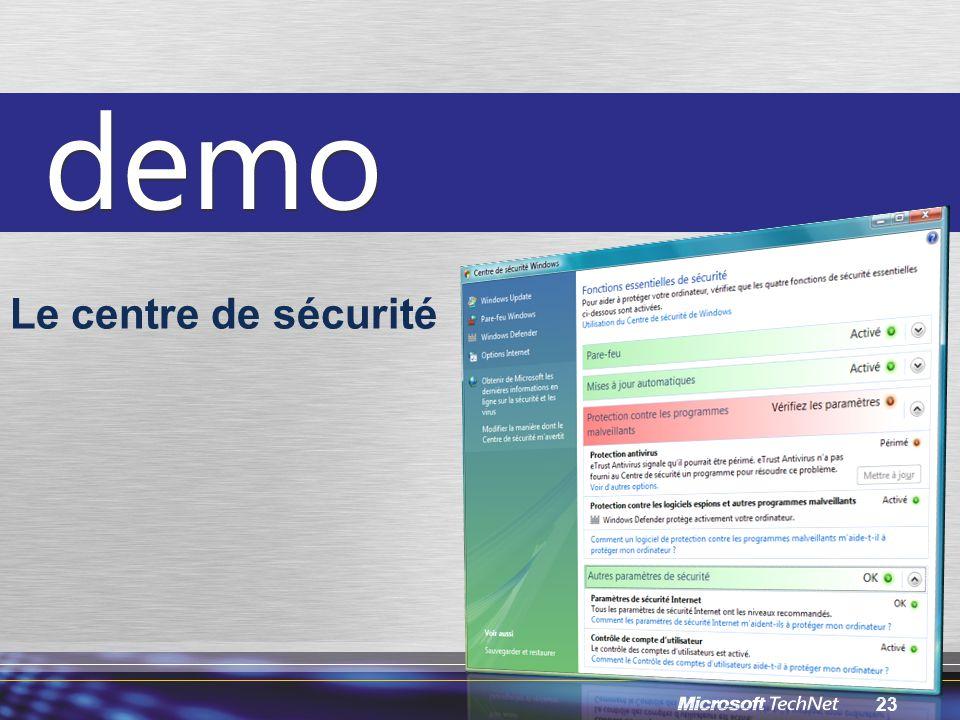 Le centre de sécurité INF210