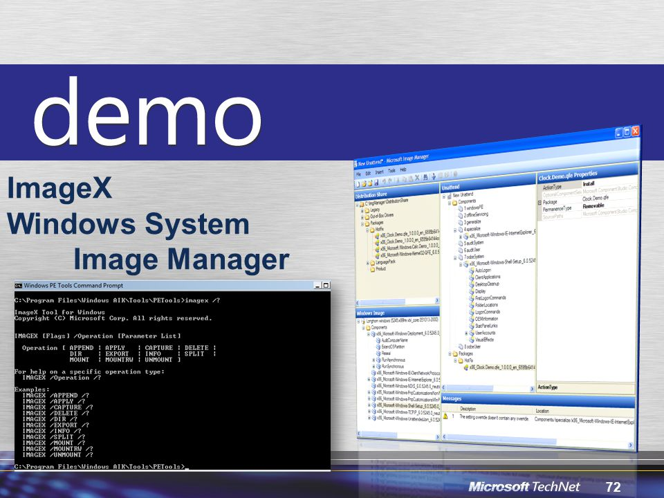 ImageX Windows System Image Manager