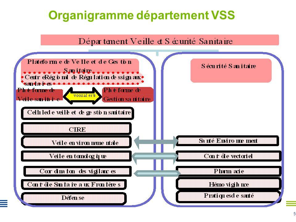 Organigramme département VSS