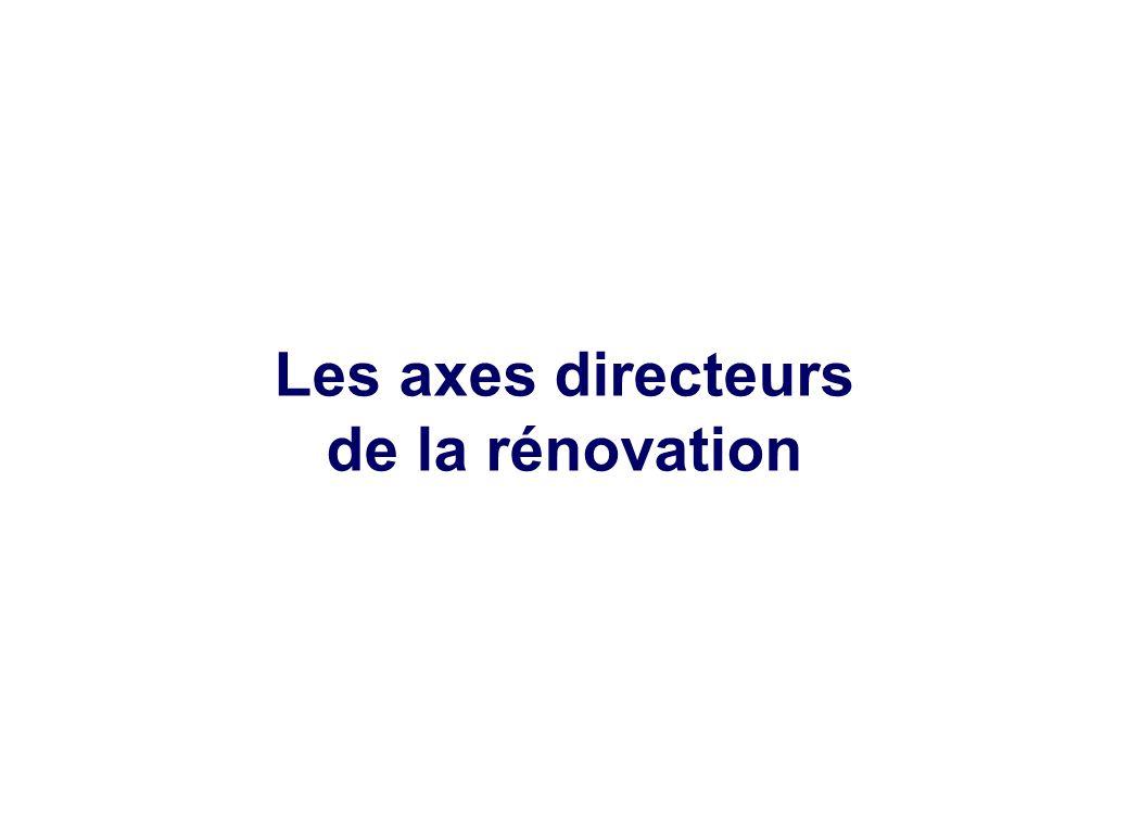 Les axes directeurs de la rénovation