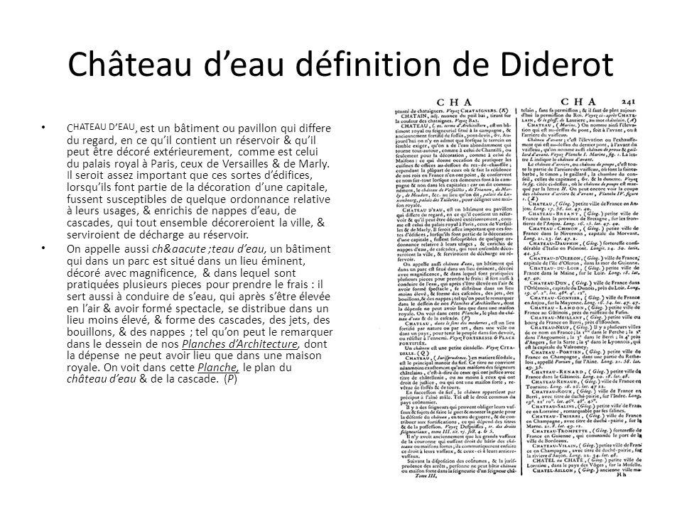 Château d'eau définition de Diderot