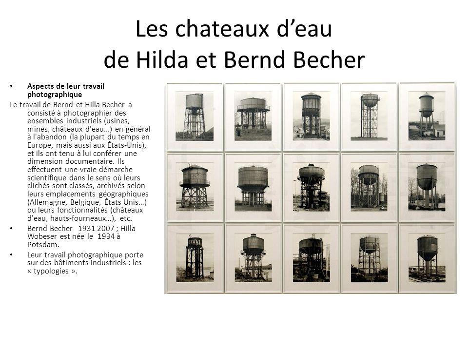 Les chateaux d'eau de Hilda et Bernd Becher