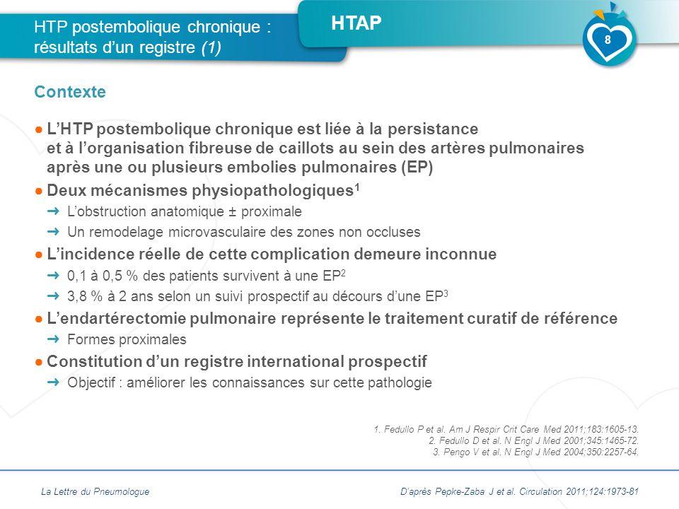 HTP postembolique chronique : résultats d'un registre (1)