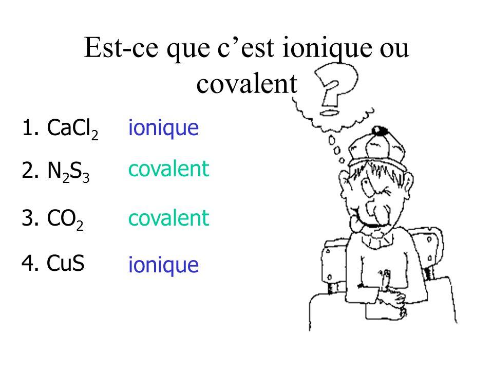 Est-ce que c'est ionique ou covalent