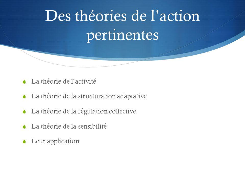 Des théories de l'action pertinentes