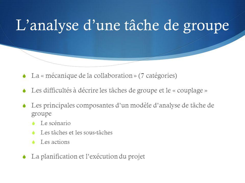 L'analyse d'une tâche de groupe