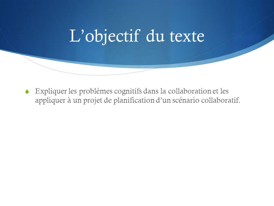 L'objectif du texte