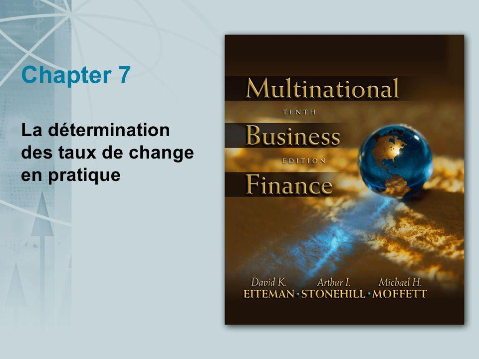 La détermination des taux de change en pratique