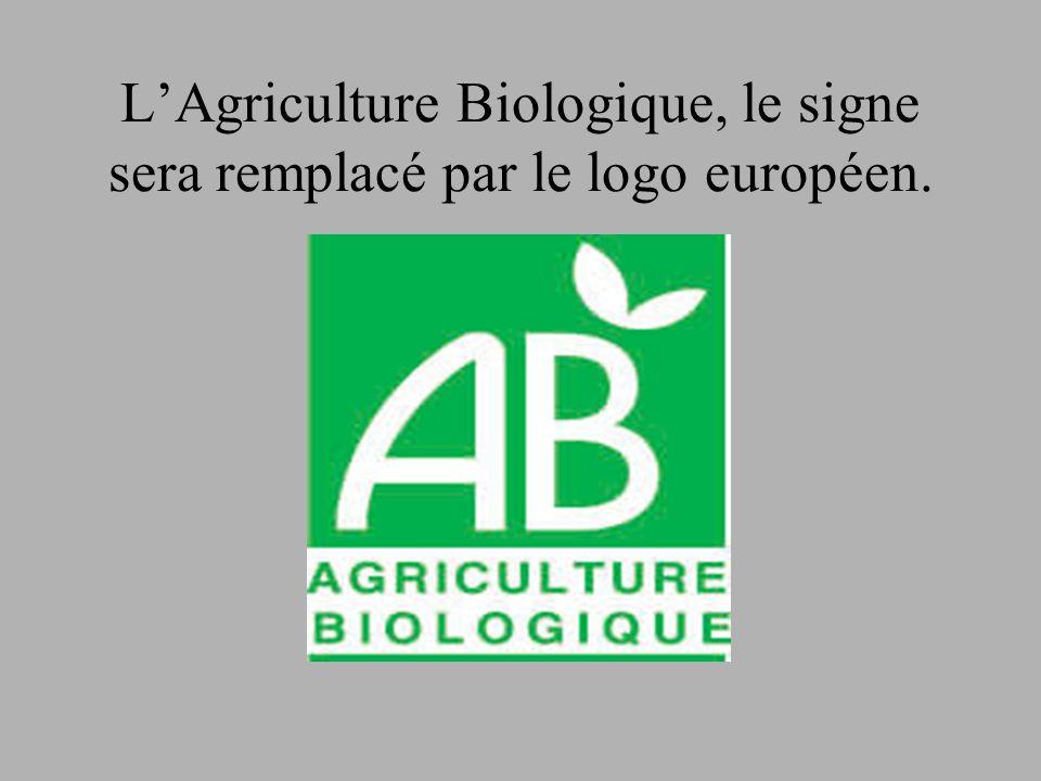 L'Agriculture Biologique, le signe sera remplacé par le logo européen.