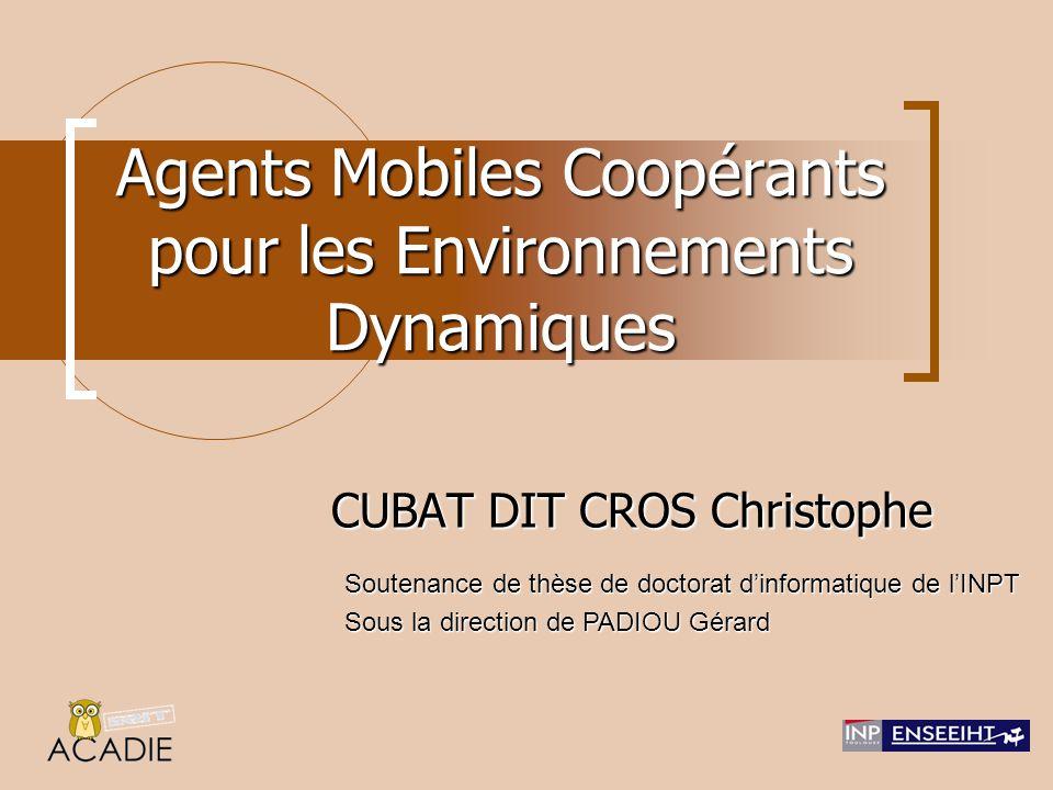 Agents Mobiles Coopérants pour les Environnements Dynamiques