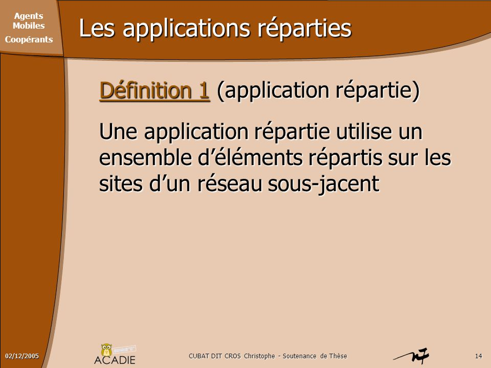 Les applications réparties