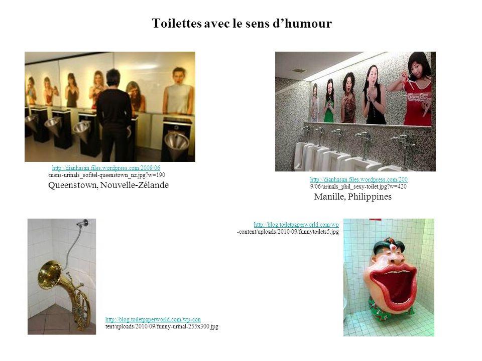 Toilettes avec le sens d'humour