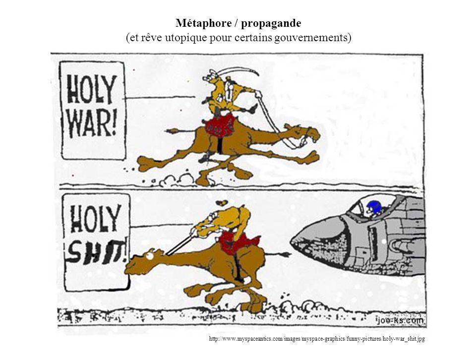 Métaphore / propagande (et rêve utopique pour certains gouvernements)