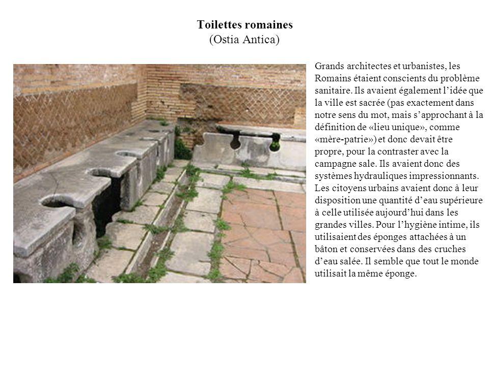 Toilettes romaines (Ostia Antica)
