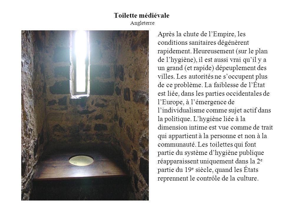 Toilette médiévale Angleterre