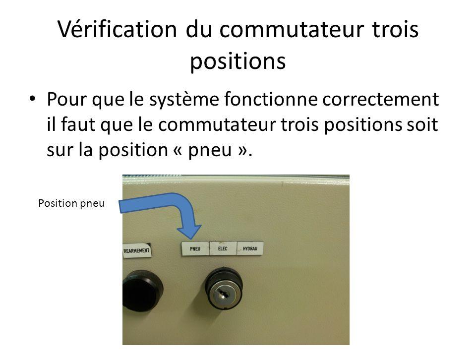 Vérification du commutateur trois positions