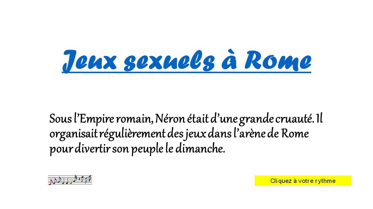Jeux sexuels à Rome