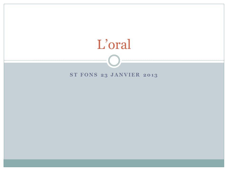 L'oral St Fons 23 janvier 2013