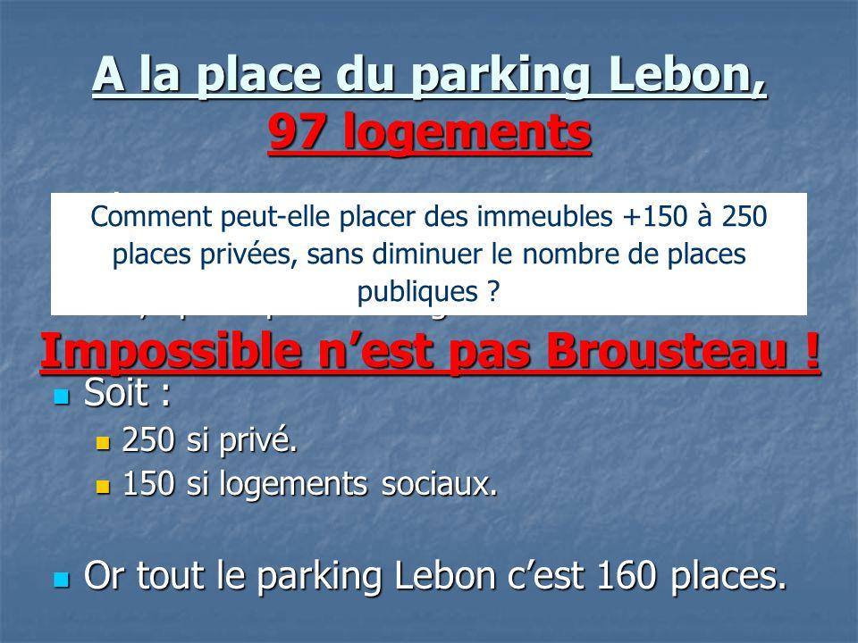 A la place du parking Lebon, 97 logements