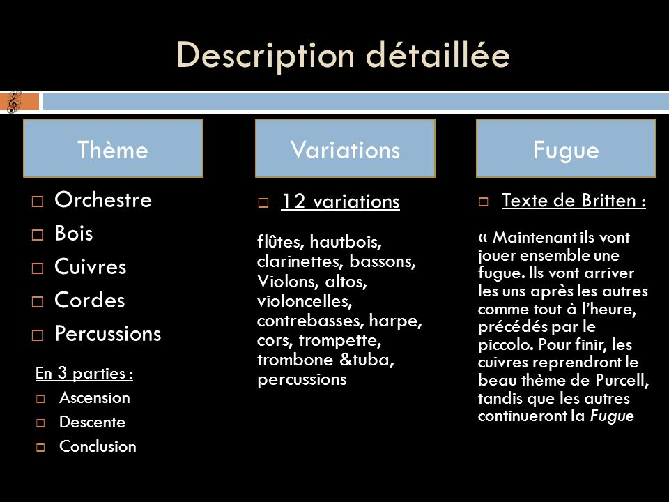 Description détaillée
