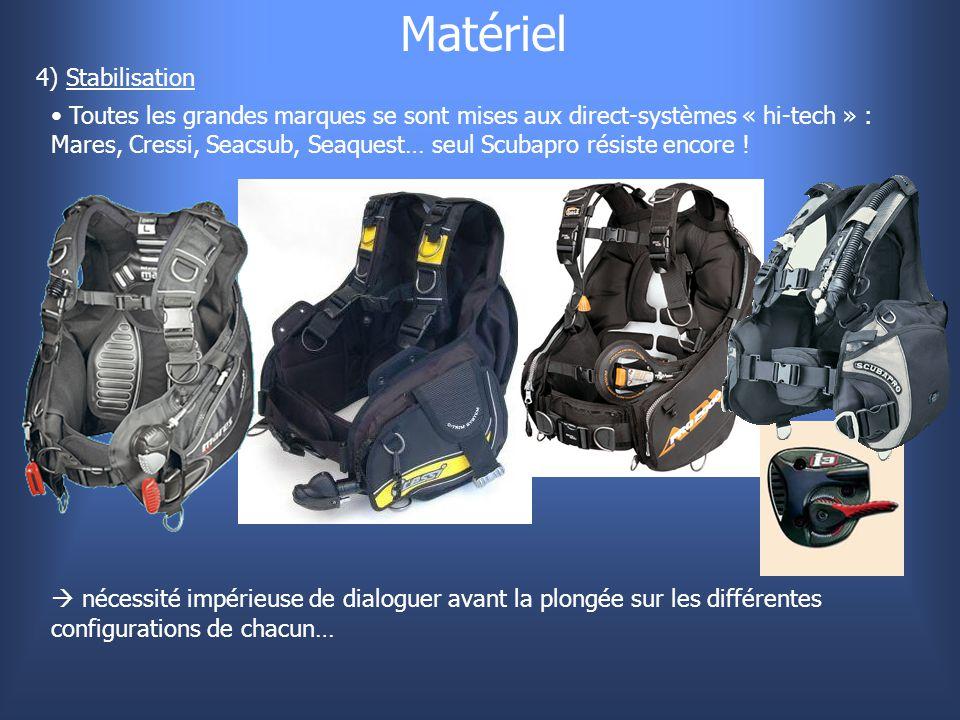 Matériel 4) Stabilisation