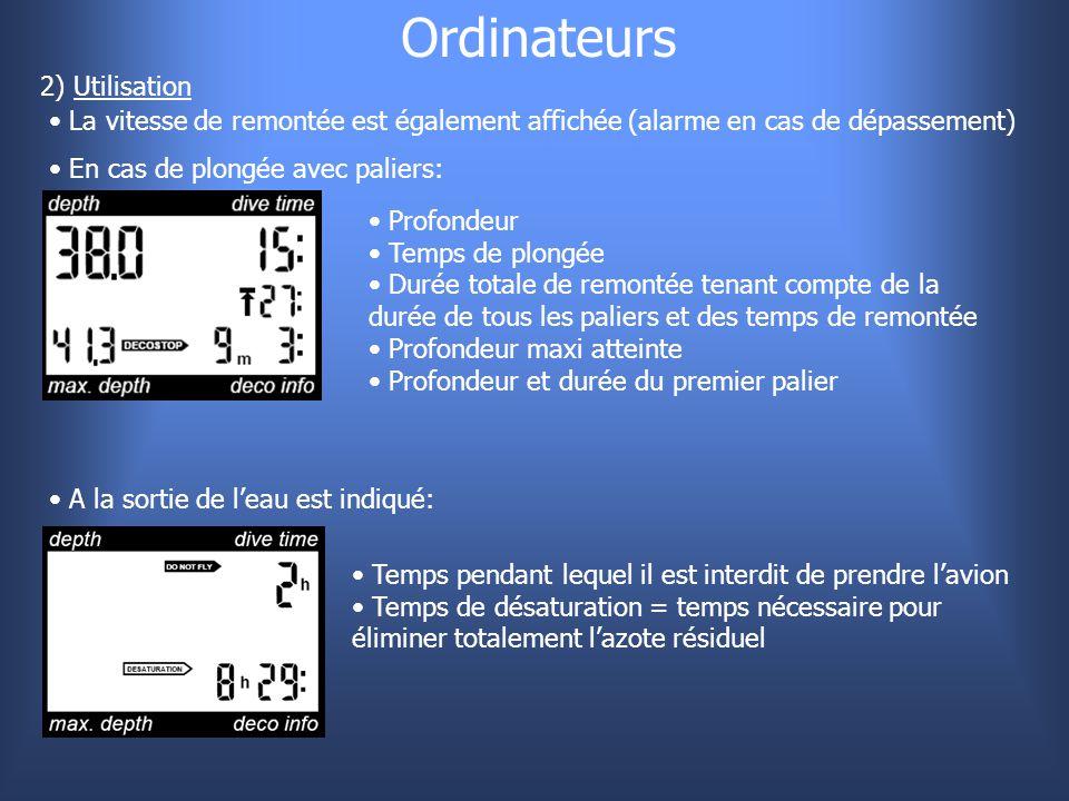 Ordinateurs 2) Utilisation