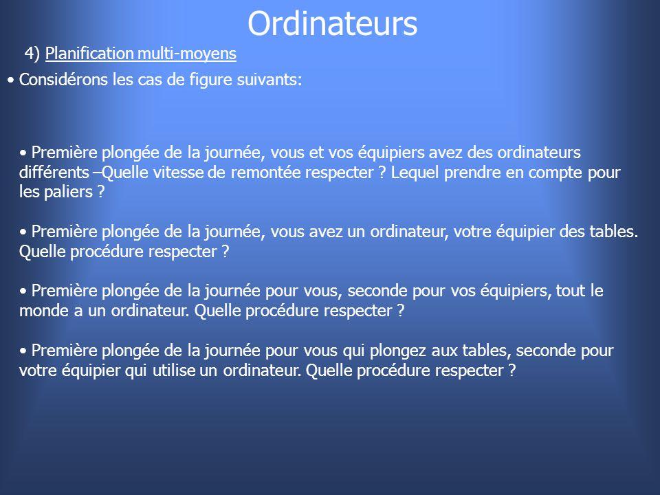 Ordinateurs 4) Planification multi-moyens