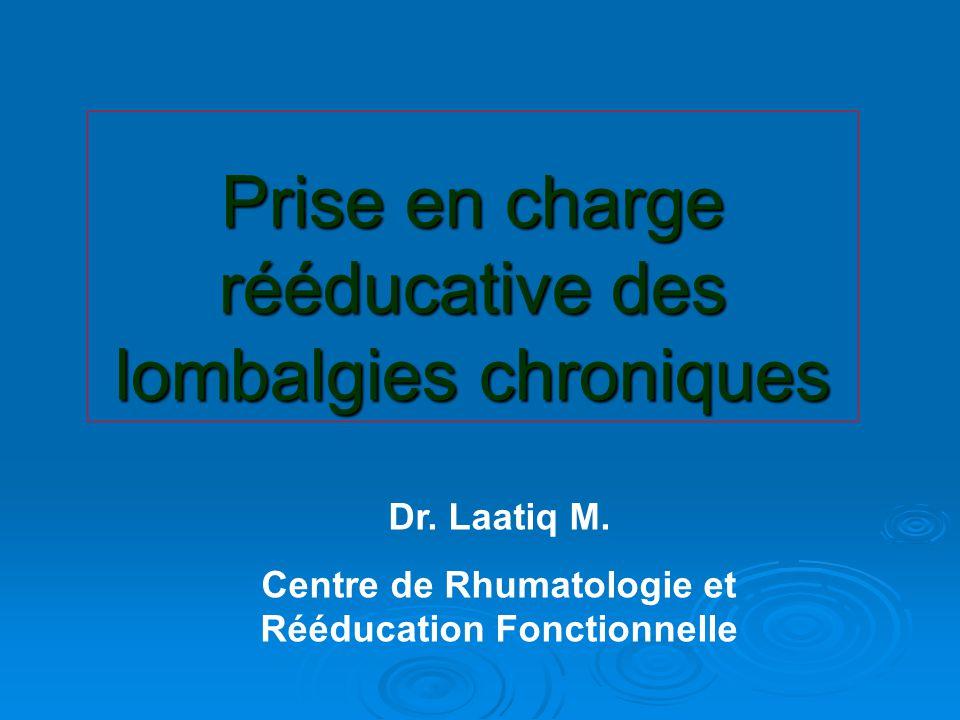 Prise en charge rééducative des lombalgies chroniques