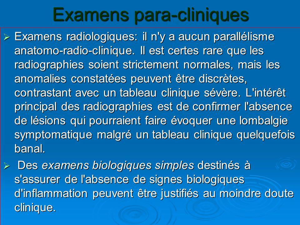 Examens para-cliniques