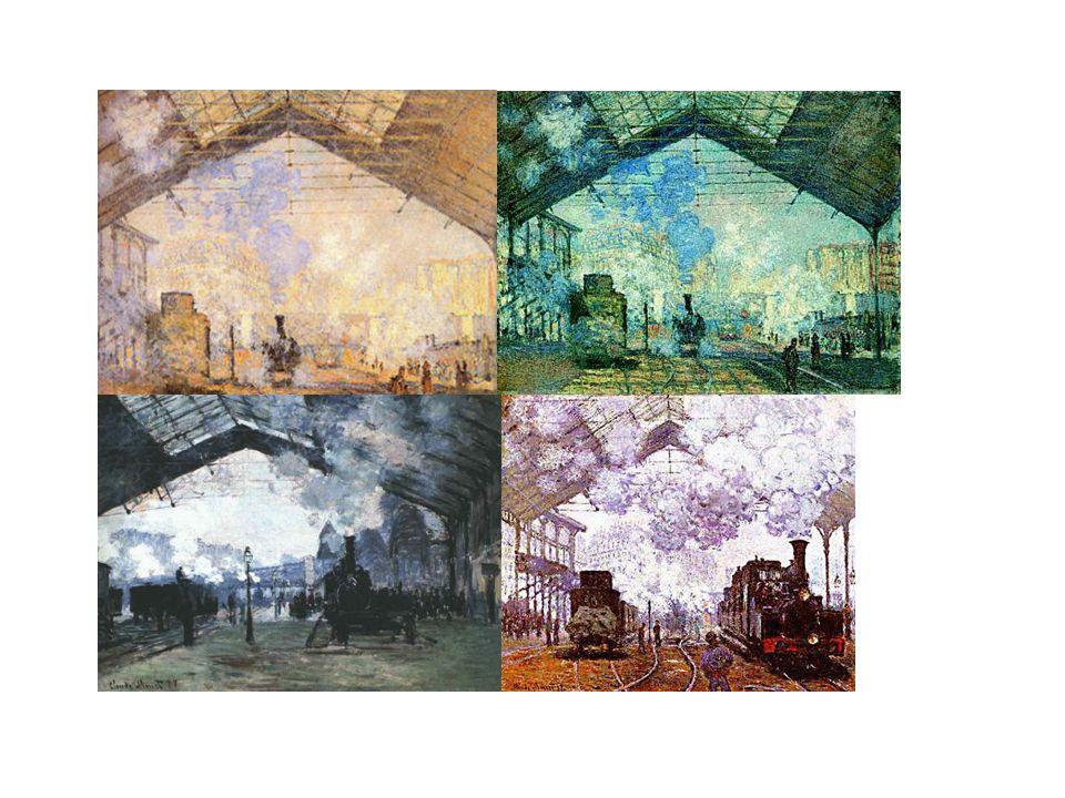 « La gare Saint Lazare » (4 tableaux différents)