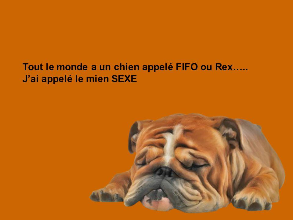 Tout le monde a un chien appelé FIFO ou Rex…..