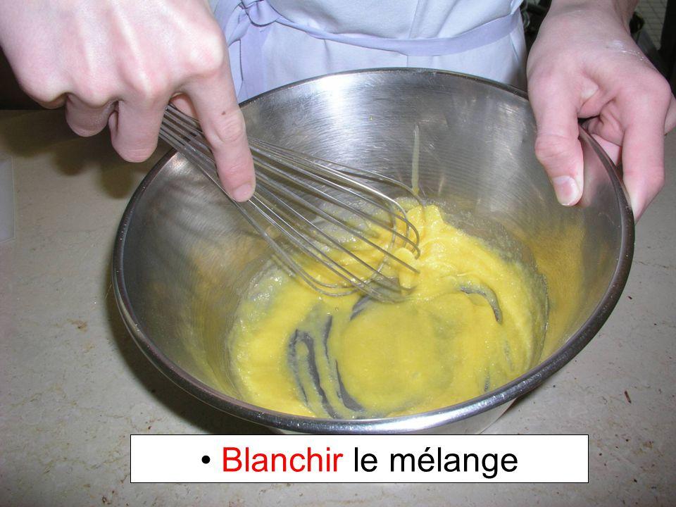 Blanchir le mélange