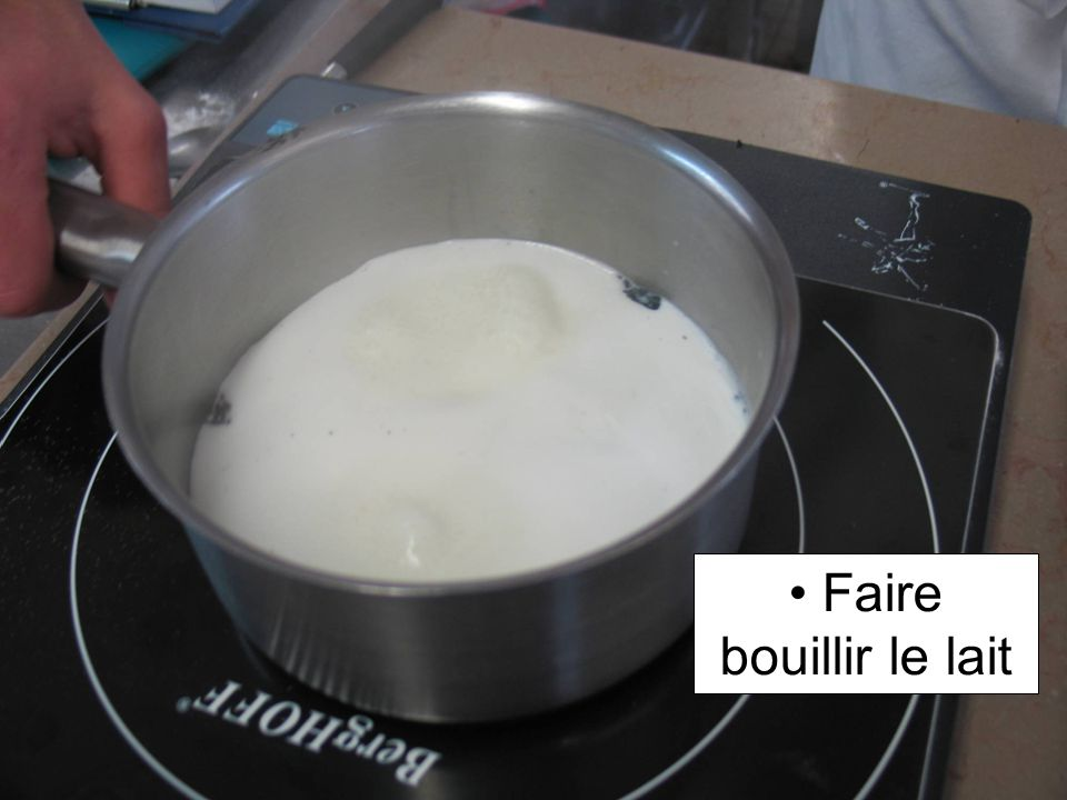 Faire bouillir le lait