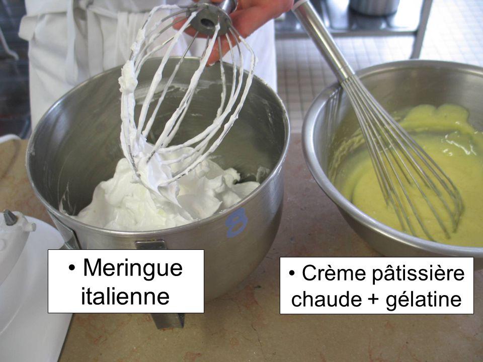 Crème pâtissière chaude + gélatine