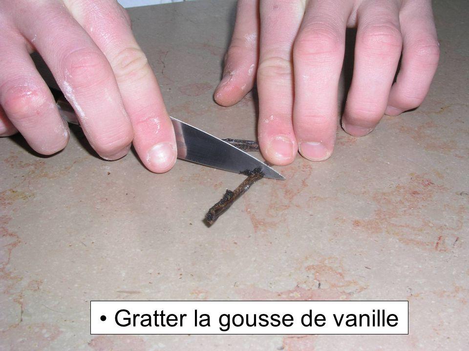Gratter la gousse de vanille