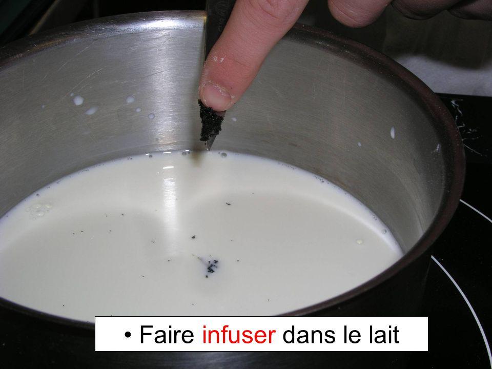 Faire infuser dans le lait
